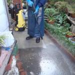 玄関回りの清掃