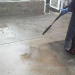 小倉南区にて高圧洗浄作業