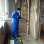 マンションベランダ高圧洗浄