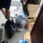 海の日の今日は小倉北区にて廃材の片付け