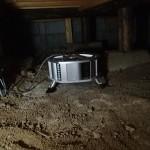 白蟻定期点検と床下換気扇の点検を京都郡苅田町にて