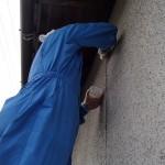 外壁のコーキングと玄関錠の交換