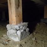 今日も北九州市若松区にて白蟻消毒後の定期点検
