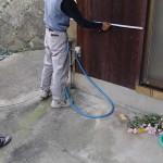 雨戸と格子の取り付け見積もりを遠賀郡芦屋町にて、基礎の補修工事の見積もりを北九州市門司区にて
