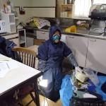 床下の基礎の補修工事を北九州市門司区にて