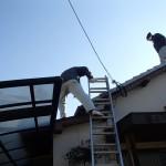 屋根の漆喰補修を北九州市若松区、廊下のフローリング見積もりを小倉南区にて