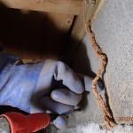 白蟻消毒と床下換気扇を北九州市門司区にて