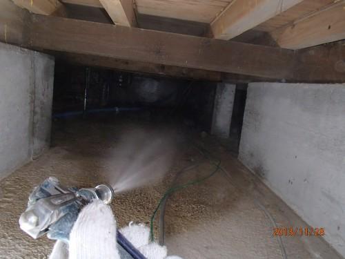 床下清掃を北九州市小倉南区にて
