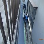 擁壁補修の上塗りをしました