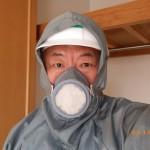 田川市のお客様で白蟻消毒後の点検