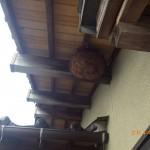 軒先のスズメバチ駆除を小倉南区にて