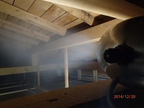 天井裏の除菌・消臭