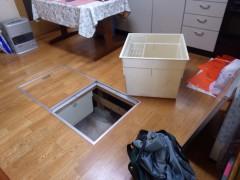 台所の床下収納庫