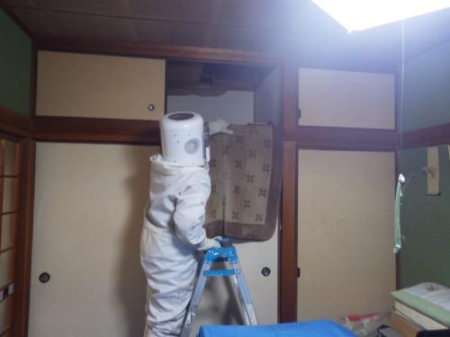スズメバチの駆除を北九州市門司区にて