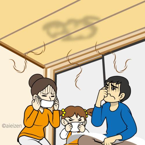 天井のシミ・臭いの原因は?動物がいる場合の対処法もご紹介!